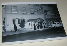 The Stork Club 1940's Front Nighttime View w/ Cab 8x10 Photo
