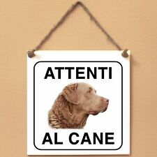Chesapeake Bay Retriever 6 Attenti al cane Targa cane cartello