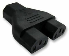 IEC C14 to 2x C13 Kettle y Splitter Plug Adapter Socket to 2 x Plugs 1 into 2