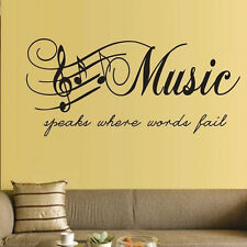 Fashion Home Decor Wall Stickers Music Musical Notes Removable Decal Sticker