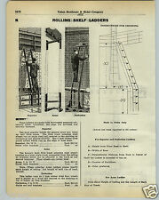 1930 PAPER AD Rolling Shelf Ladder Library Store Superior Perfection Acme Wheel