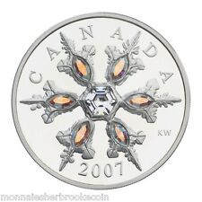 2007 Canada $20 Dollars Sterling Silver - Iridescent Crystal Snowflake - A196