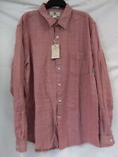 Club Room Size XXL Fitted Banner Red Striped Long Sleeve New Mens Shirt