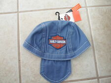 "NOS Harley Davidson Boys Blue Colored Denim Aprox. 7"" Doo Rag Denim SGI 130322"