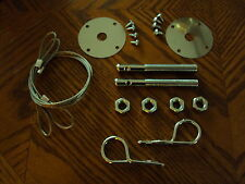 Hood Pin & Cable Kit CHEVELLE SS Malibu EL CAMINO CAMARO Z28 RS SS Super Sport