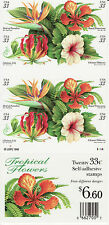TROPICAL FLOWERS STAMP BOOKLET -- USA, #3313B  33 CENT BOOKLET