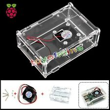 NUOVO Raspberry Pi 2 Model B B+ Clear Case + Fan Cover Shell Enclosure Boo