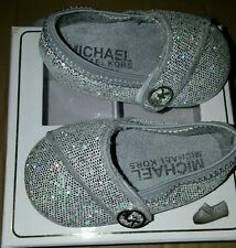 Infants Baby Girls Michael Kors Baby Grace Glitter metallic shoes size 3 MK