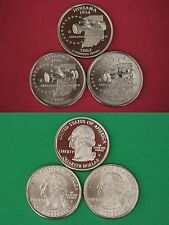 2002 D P S Indiana State Quarters From Proof & BU Mint Sets Flat Rate Shipping