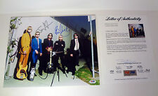 AEROSMITH COMPLETE BAND STEVEN TYLER SIGNED AUTOGRAPH 11X14 PHOTO PSA/DNA COA #2