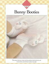 Jaunty Easter BUNNY BOOTIES for Baby Crochet Single Pattern Vanna White
