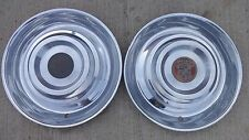 "1954 1955 Cadillac 15"" HUB CAPS Original pair 15 inch wheel covers"
