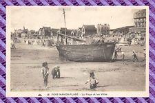 CPA 80 - Fort-Mahon-plage - postal- la playa y los villas