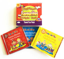 Children's Favourites Travel Fun Pack 3CDs of kids songs rhymes & stories NEW