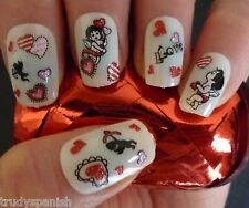 Valentines Lips Love Hearts 3D Design Nail Art Stickers Decals Decoration (966)