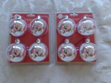 Pack of 8 Personalised Christmas Baubles.