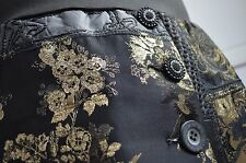 NWT Desigual Very Rare Dark Night Skirt Gold Floral Embroidery Pattern L XL