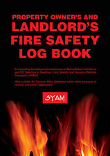 Landlord's fire safety Log Book for property owners! **FREE P&P**