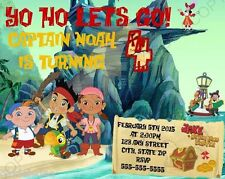 Jake and the Neverland Pirates Birthday Party Invitations w/ Env 8pk Personalize