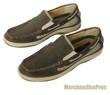 MEN'S DUCKHEAD CLIPPER SLIP-ON LEATHER BOAT DECK SHOES 10.5M DARK BROWN SHOE NEW