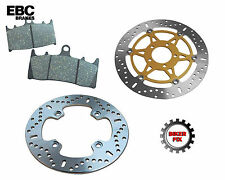 TRIUMPH T595 Daytona (6 bolt) Front disc 1997 Rear Disc Brake Rotor & Pads