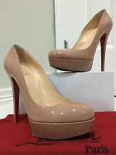 Christian Louboutin Bianca 140 - Nude - Patent Leather - Size 39