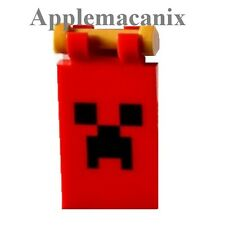 NEW LEGO 21127 Minecraft The Fortress RED CREEPER FLAG *INSTOCK* - 2 Parts