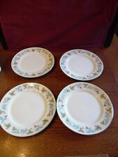 4 MS Vintage Fine China of Japan Leaves & Purple Berries Bread Butter Plates