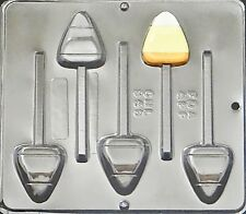 Candy Corn Lollipop Chocolate Candy Mold Halloween  948 NEW