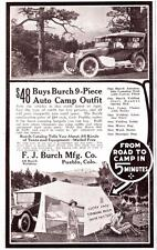 Vintage ad 1923 Burch Auto Camp Outfit Cool photo Family Camping Glamping