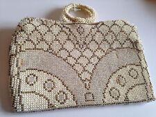 Vintage Micro Bead Beaded Evening Purse Pretty Pattern #2