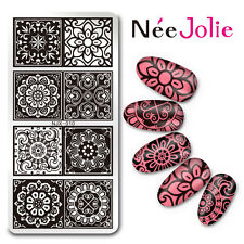 Rectangle Nail Art Stamping Stamp  Lace FlowerTemplate Image Plate NJX-010