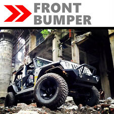 07-17 JEEP WRANGLER JK BLACK FRONT BUMPER ROCK CRAWLER W/WINCH PLATE TEXTURED