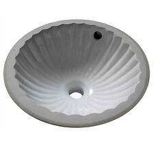 Ceramic Undermount Bathroom Round Sink Design 11.5 inches Diameter Petite Small