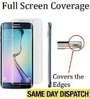 FULL SCREEN COVER TPU Screen Protector TEMPERED Film for Samsung Galaxy S7 Edge