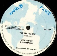 """WORLD PEACE AND DISARMAMENT you are the one WP 001 uk world peace 12"""" WS EX/"""