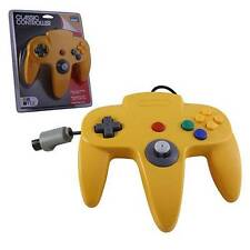N64 Nintendo 64 CONTROLLER CLASSIC YELLOW N64 LONG HANDLE Original Style