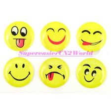 6x Smile Face Soft Plastic Round Home Button Sticker For iPhone 4 4S 5 iPad2 #09