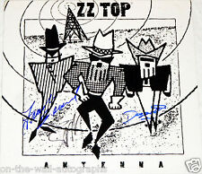 ZZ TOP HAND SIGNED AUTOGRAPHED ANTENNA ALBUM BY GIBBONS, HILL, BEARD W/PROOF+COA