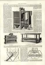 1889 Robinson Molino de Harina Tamiz Purificador Clasificador Guernsey obras de agua