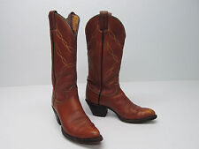 TONY LAMA M5550 COWBOY BOOTS BROWN LEATHER EMBROIDERED Sz MEN'S 6 A