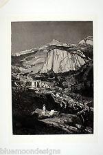 """MAX KLINGER 1881 """"Mondnacht"""" Original Radierung Intermezzi Opus IV Centauren"""