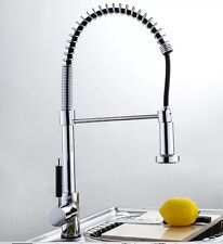 Chrome Pull Out Professional Kitchen Tap - Moveable Head Ideal Belfast Sink