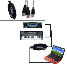 New USB To MIDI Cable For Music Keyboard Adapter Converter