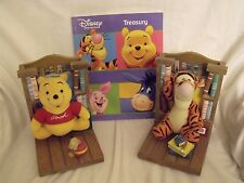Wooden Disney Bookends 18 cm high Winnie the Pooh and Tigger Plus Extra Book