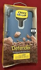 Authentic Otterbox Defender Case with Holster for LG G4 - Blue/Gray - Retail $50