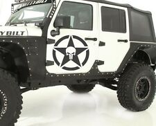 Top Decal sticker kit For Jeep Wrangler punisher skull star chrome lift soft jk
