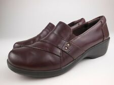 CLARKS COLLECTION Brown Leather Slip On Loafers Shoes Sz 6 M