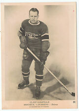 1939-40 O-Pee-Chee V301-1 Cliff Goupille # 22 Montreal Canadiens (5 x 7 card)