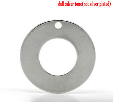 10pc Stainless Steel 30mm Blank Stamping Washer Disc Hand Stamp Jewelry Supplies